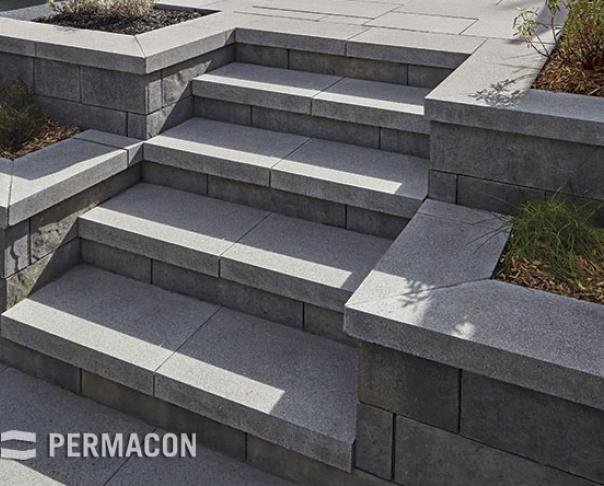 Escaliers et Murets, Pavé uni, Permacon - Escaliers et Murets, Pavé uni, Permacon