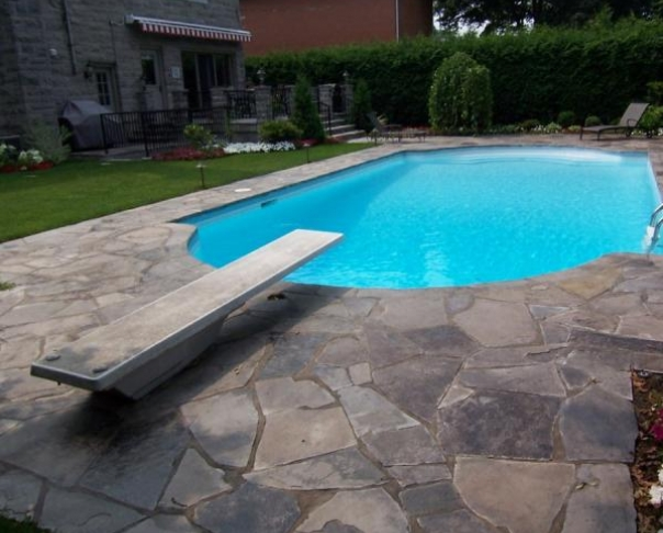 Cut stone Pool Deck - Ledgerock stones, TMR