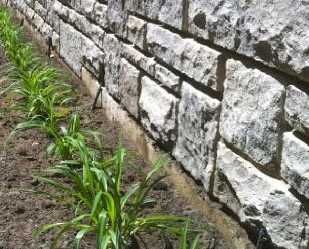 Mur de soutennement - Pierre Saint Marc, Westmount