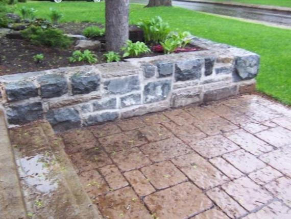 Mur de pierres ancestrales - Taillée à la main. Ville Mont-Royal