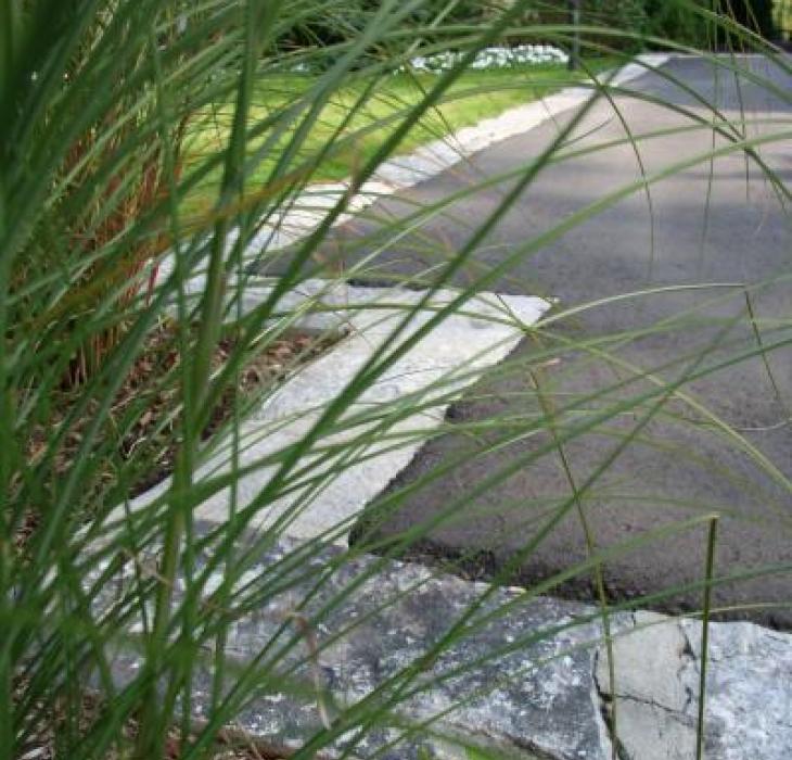 Bordure en pierre récupérée - Récup, Taille de carrière