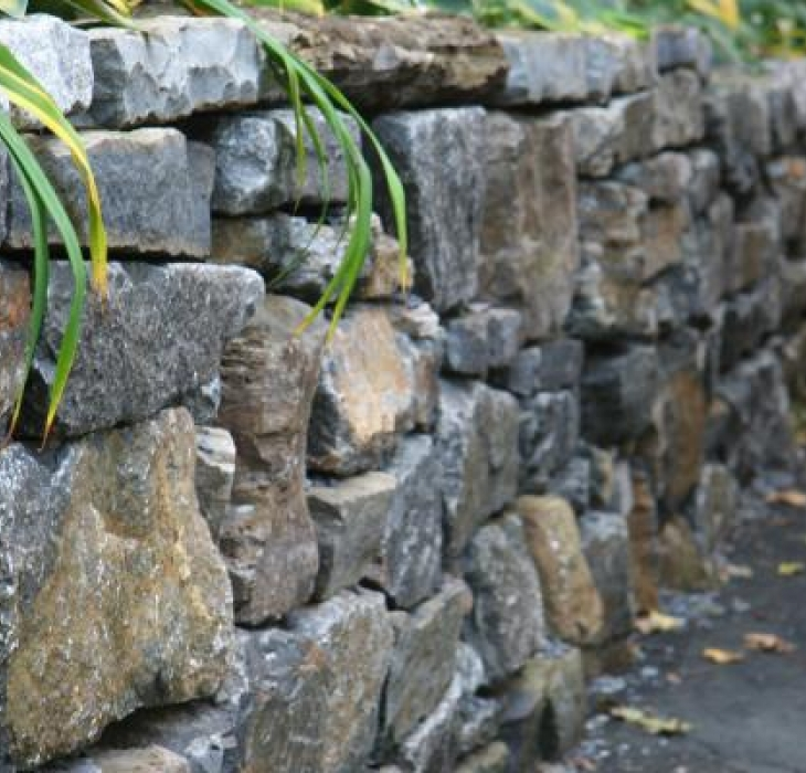 Recycled stone wall - Westmount