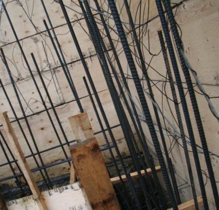 Form work and steel reinforcement -