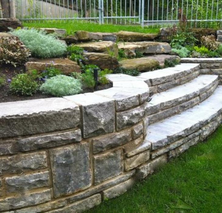 natural stone wall -